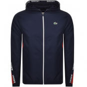 Lacoste Sport Full Zip Hooded Jacket Navy